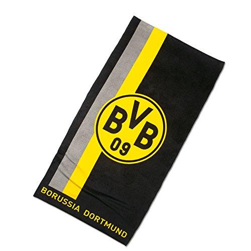 BVB-Badetuch mit Logo im Streifenmuster one size