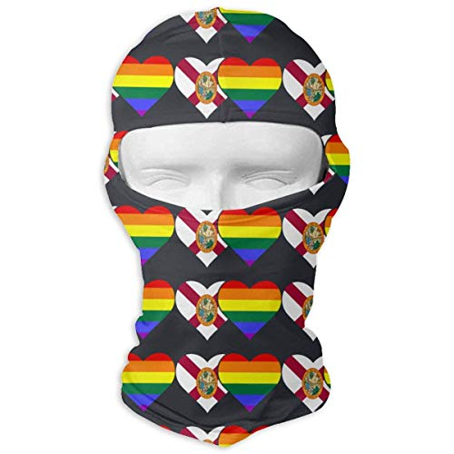 Biprdwm Neck Scarf Sunscreen Hats Florida Flag and LGBT Flag Sun UV Protection Dust Protection Wind-Resistant Face Mask -