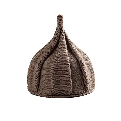 ZQY Adult/Kids Winter Warm Cute Pointy Knitted Beanie,Boy Twist Hat Crochet Skull Cap