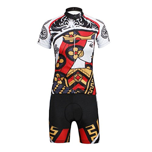 PaladinSport Men's Poker Style Short Sleeve Mountain Bike Clothing Set Asian Size S ()