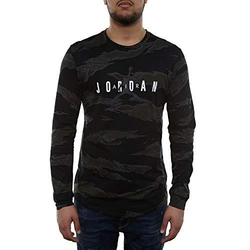 23af562d Jordan Nike Mens Sportswear Graphic Camo Long Sleeve T-Shirt ...