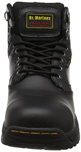 Leather Martens 7 Work Black Safety Drax Dr Eyelet Boots Mens Black xSdXxwq