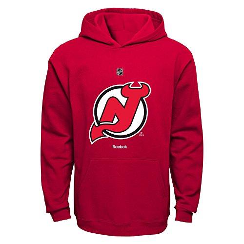 NHL New Jersey Devils Boys 8-20 Primary Logo Fleece Hoodie, Red, Medium