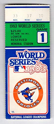 1983 Phillies V. Orioles World Series Game 1 Ticket Stub Morgan Home Run 129046