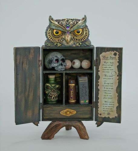 Katherine's Collection 28-728673 Owl Witches Potion Cabinet Halloween Decoration ()