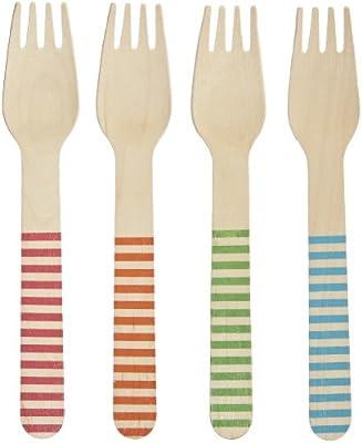 Perfecto Stix – 158 de madera cubiertos, 6 tenedores de