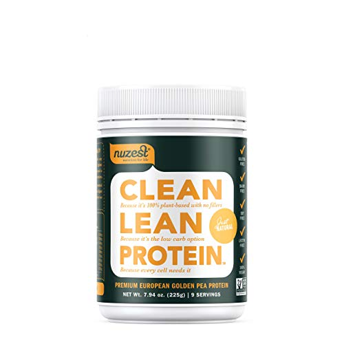Nuzest Clean Lean Protein – Premium Vegan Protein Powder, Plant Protein Powder, European Golden Pea Protein, Dairy Free, Gluten Free, GMO Free, Just Natural UNFLAVORED , 9 Servings, 7.9 oz