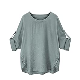 Women's  Collar Shirt Casual Blouse Button Down Tops
