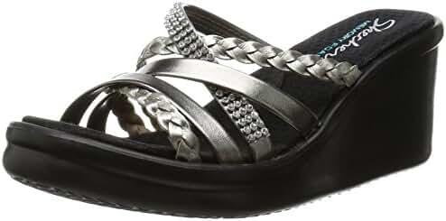 Skechers Cali Women's Rumblers-Social Butterfly Wedge Sandal