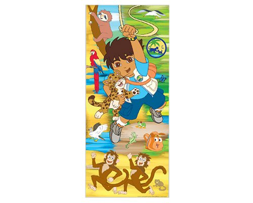 GO DIEGO kids Jumbo WALL PAPER APPLIQUES wallpaper