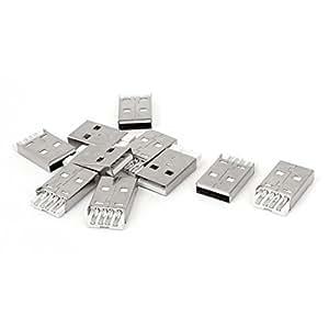10 PC USB 2.0 tipo A macho de enchufe del puerto Alfiler montaje en PCB Conector