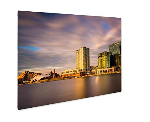 Ashley Giclee Metal Panel Print, Long Exposure Of Skyscrapers In Harbor East Seen From The Inner Harbor In, 8x10, - Gallery The Harborplace &