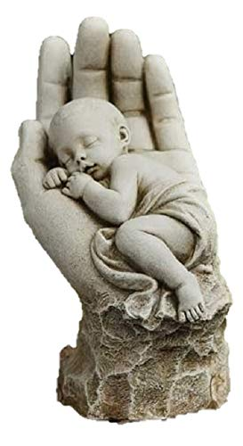 Roman In the Palm of His Hand Garden Statue -