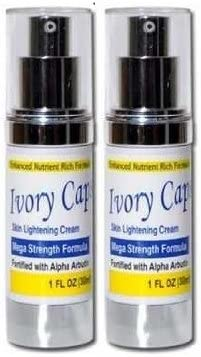 Ivory Caps Skin Whitening Lightening Support Cream X2