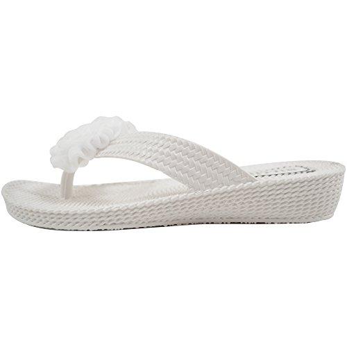 Donna / Donna Estate / Vacanza / Sandali Da Spiaggia Millie Flower / Scarpe / Infradito Bianco