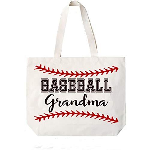 Cocomo Soul Baseball Grandma Canvas Tote Bag Grandma Gift Idea Book Bag
