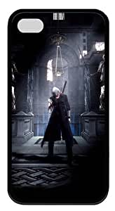 iPhone 4S Case Cover - Devil May Cry TPU Silicone Case Cover for iPhone 4 and iPhone 4s - Black