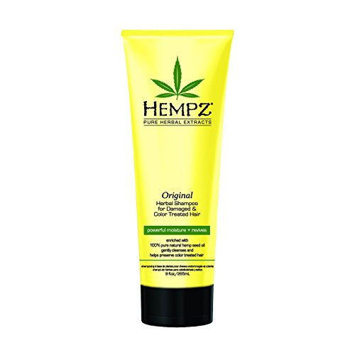 Chemically Treated Hair Shampoo (Hempz Original Herbal Shampoo for Damaged and Color Treated Hair, Pearl Yellow, Floral/Banana, 9 Fluid Ounce)