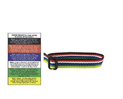 (swanson Multi Color Salvation Woven Bracelets Plan Salvation Cards (Pack of 48))