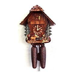 Cuckoo Clock Horses scene