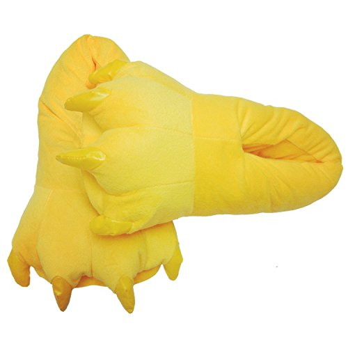 FashionFits Unisex Soft Plush Home Slippers Animal Costume Paw Claw Shoes Yellow S -