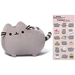 Gund Pusheen 12 Stuffed Toy Plush with Puffy Pusheen Sticker Book