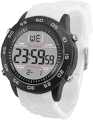 BTXXY 古典的 腕時計 アウトドアスポーツ 警報 週間カレンダー 大きいダイヤル シリコーンベルト (Color : 青, Size : フリー)