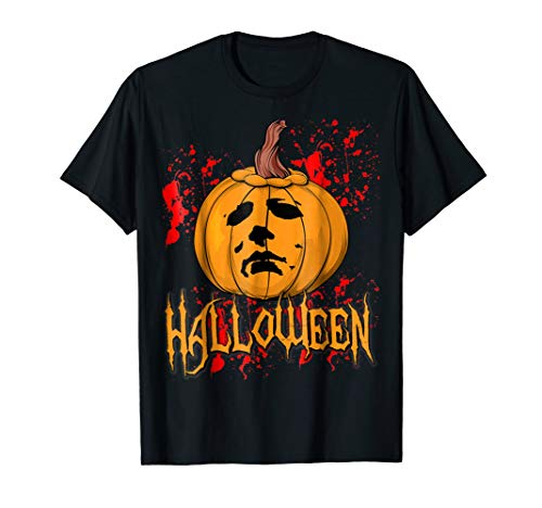 Funny Halloween Michael Pumpkin Myers Face tshirt Gift. -