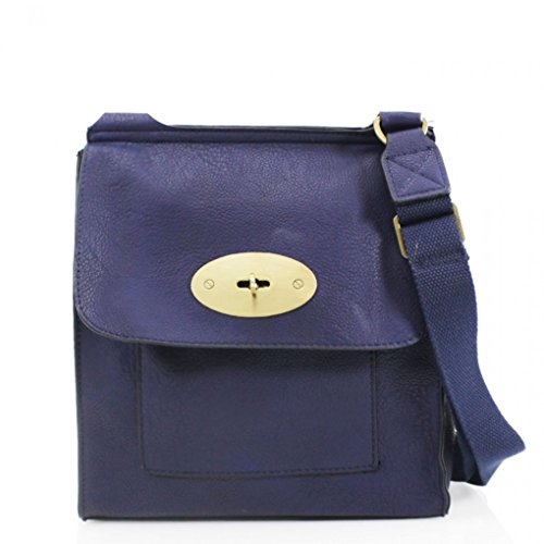 Tote LeahWard X Shoulder D9cm H30cm Across Handbags Body Girls Faux Navy Quality W27cm X Bag Bag Leather Mum's Flap Cross Women's Body High Women For Grab BFnBrT