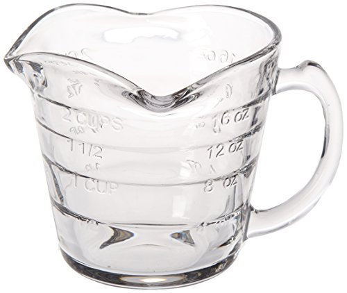 Dozenegg Triple Pour Measuring Cup Glass 16 ounce ()