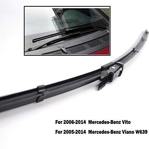 HCDSWSN Limpiaparabrisas Delanteros para Mercedes Benz Vito Viano W639 2006-2014 Parabrisas Parabrisas Ventana Delantera 28+26