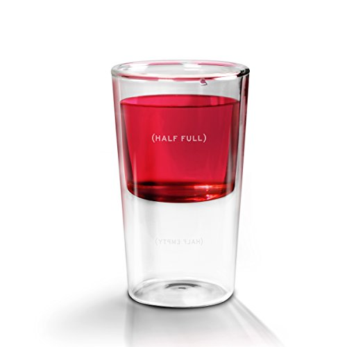 Empty Glass Half (Fred HALF FULL Double-Walled Glass)
