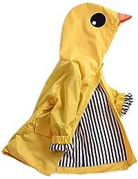 a5dd4b946d03 Kids Boy Girl Animal Raincoat Cute Jacket Hooded Outwear Baby Fall Winter  School Oufits
