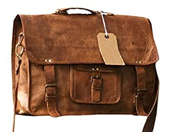 Amazon.com: Right Choice Leather Messenger bag Macbook Laptop ...
