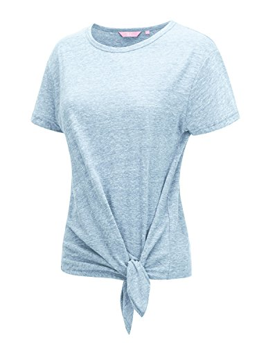 Regna X Summer Clothes Short Sleeve Plus Size Workout Clothes for Women Blue 3XL