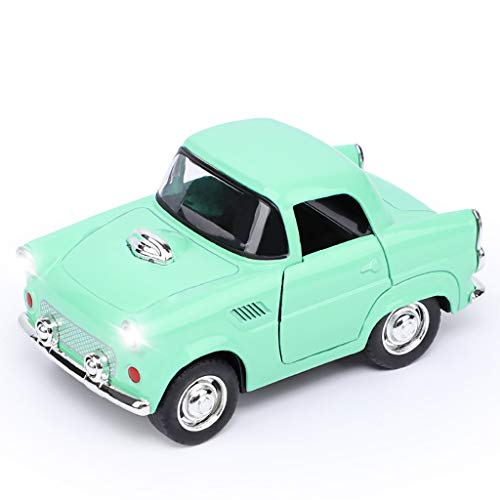 Gbell  Mini Pull Back Cars for Toddlers Toy Cars with Lights and Music Cars Party Favor for Kids Educational Toy Birthday Gift (Green)