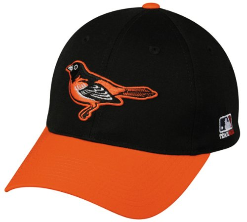 Logo Cap Youth (Baltimore Orioles (Home/Orioles Bird Logo) YOUTH (Ages Under 12) Adjustable Hat MLB Officially Licensed Major League Baseball Replica Ball Cap)
