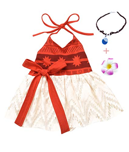 AmzBarley Baby Girls Costume First Birthday Party Toddler Kids Fancy Dress up Costumes (Red(with Accessories), (6-12 Months) Tag 90) ()
