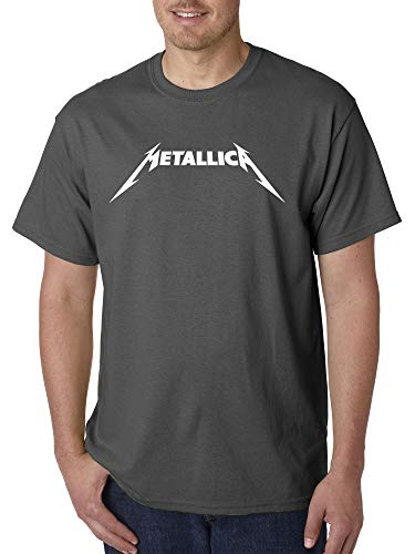 New Way 925 - Unisex T-Shirt Metallica Metal Rock Band Logo Medium Charcoal ()