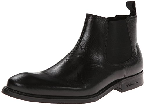 Kenneth Cole New York Uomo Legale In Pelle Di Vitello Nero Gonzo Boot