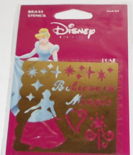 (Disney Brass Stencil Template, Cinderella Believe In Magic, 46624, Princess)