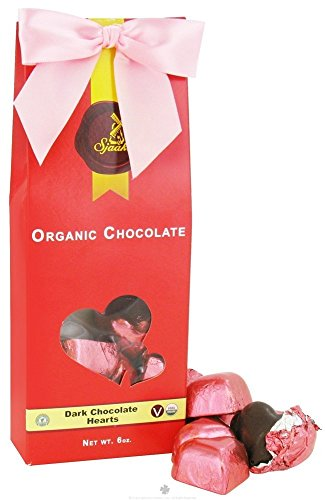 Sjaak's Organic Dark Chocolate Bites Gift Tote, Individually Wrapped Valentines Hearts, 6 Oz