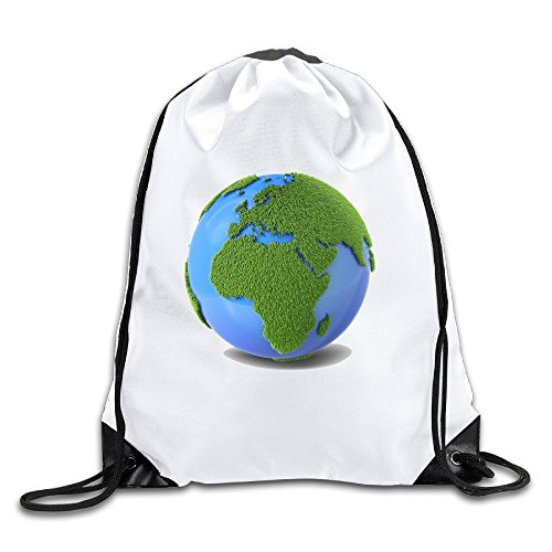 Earth Lightweight Drawstring Gift Bags Backpack White Size One Size