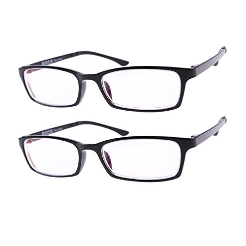 2 PRS (Black Frames) Short-sighted Myopia Glasses Strength -2.00 **These are not reading glasses**
