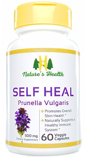 (Nature's Health Self Heal (Prunella Vulgaris), Promotes Healthy Skin & Immune System Support, 100% Satisfaction Guarantee, 500 Mg, 60 Veggie Capsules)