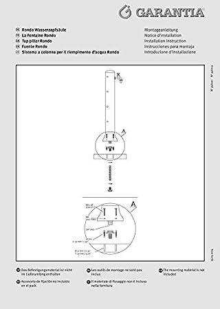 Garantia Robinet pour jardin Rondo Gris pierre: Amazon.fr: Bricolage