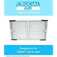 Idylis HEPA Air Purifier Filter; Fits Idylis Air Purifiers IAP-10-200, IAP-10-280; Model # IAF-H-100C; Designed & Engineered by Crucial Air