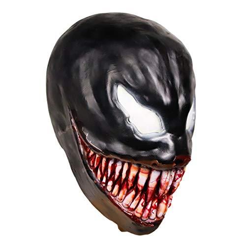 Waylike Venom Mask Latex Venom Costume Rubber Cosplay Costume for Novelty Halloween Mask