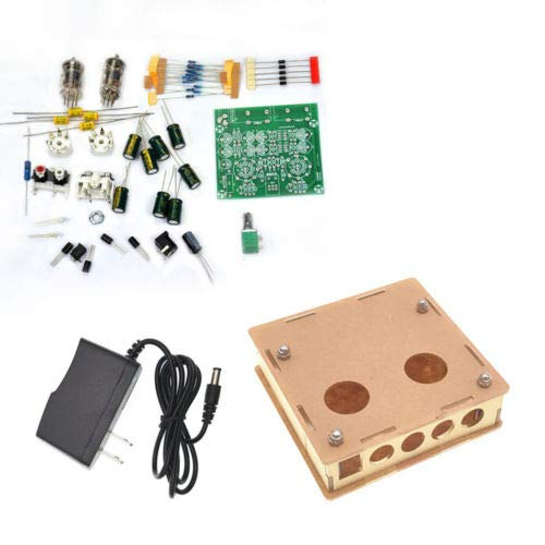 - FidgetFidget Pre-amp Tube Board Headphone Amplifier+Case Power DIY Kits AC 12V 6J1 Valve DIY Kits + Box + EU Plug