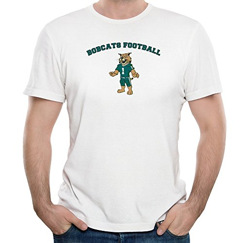 Tjame Men's Uniform Mascot Athens College Ohio Bobcats Tshirts XXL White (Mascot Uniforms)